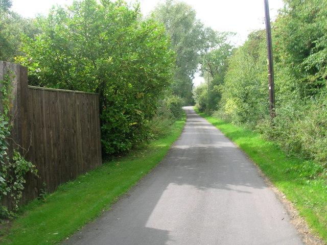Lane towards Topham