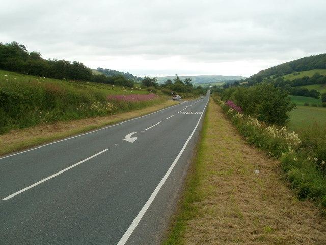 Get back on the left, A4067 near Defynnog
