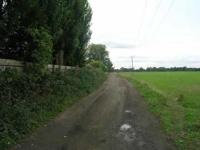 Farm track (bridleway) near Ash Tree Farm