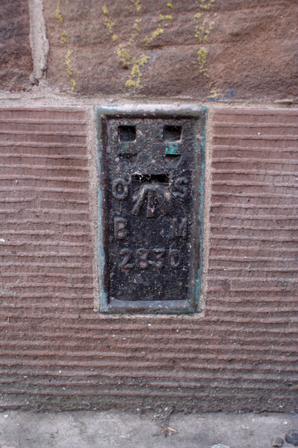 Flush Bracket Bench Mark, Chester Town Hall