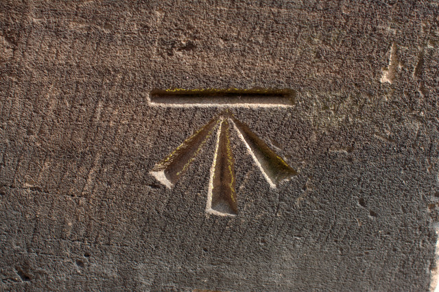 Cut Bench Mark, Chester Cathedral