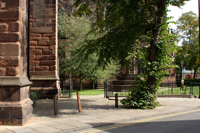 Buttress and Bench Mark, Chester Cathedral