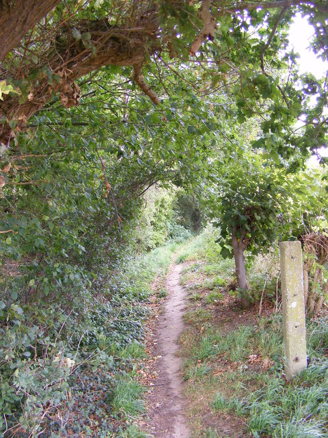 Footpath to the A1120 Hackney Road
