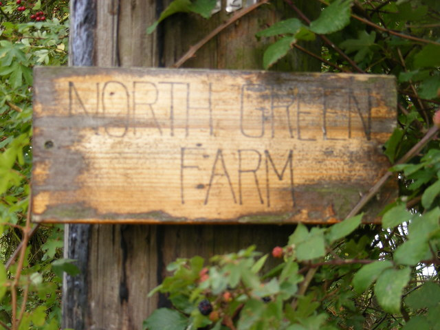 North Green Farm sign