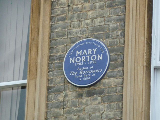 Blue plaque on Leighton Middle School