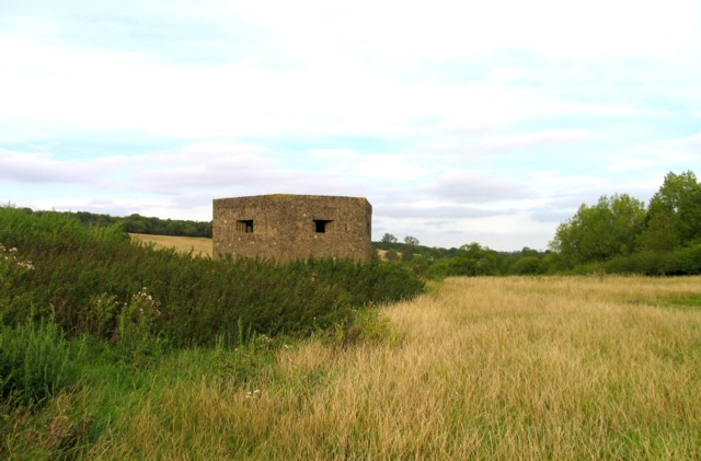 Type 22 concrete pillbox at Withcote