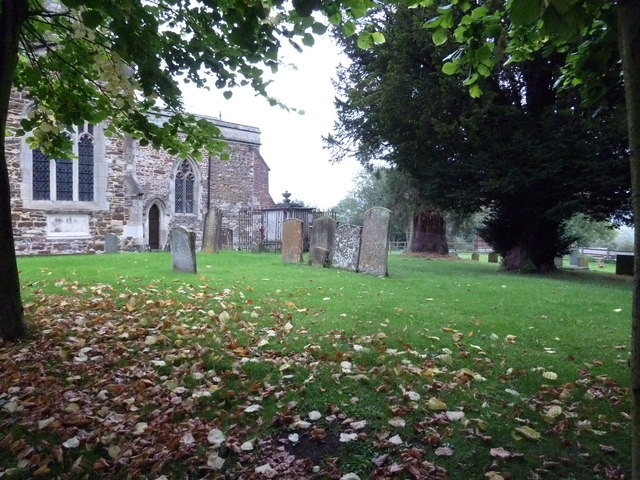 Autumn leaves in St Luke's Churchyard, Stoke Hammond