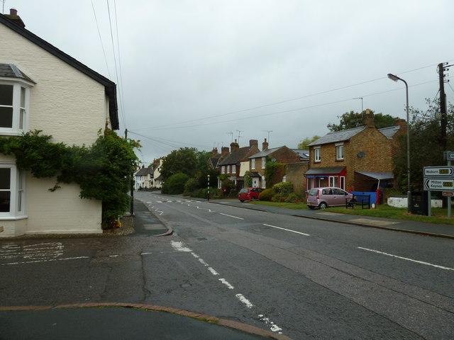Looking from Great Brickhill Lane into Watling Street