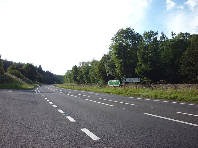 Road junction, A69 west of Haltwhistle
