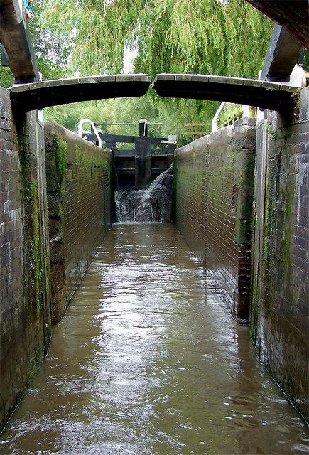Hoo Mill Lock north of Great Haywood, Staffordshire