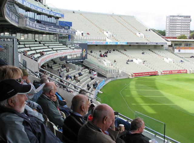 Edgbaston Cricket Ground: watching from the new pavilion