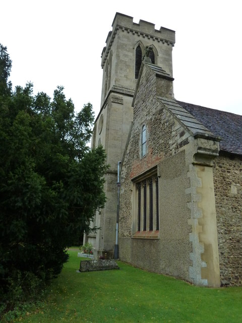 St. Peter, Milton Bryan: church tower (a)