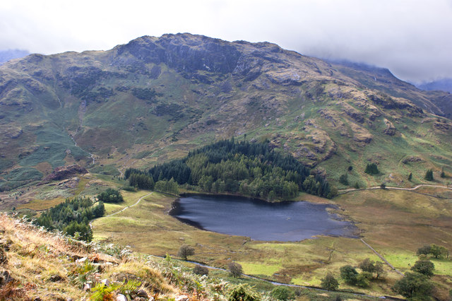 Blea Tarn from the path up Mart Crag