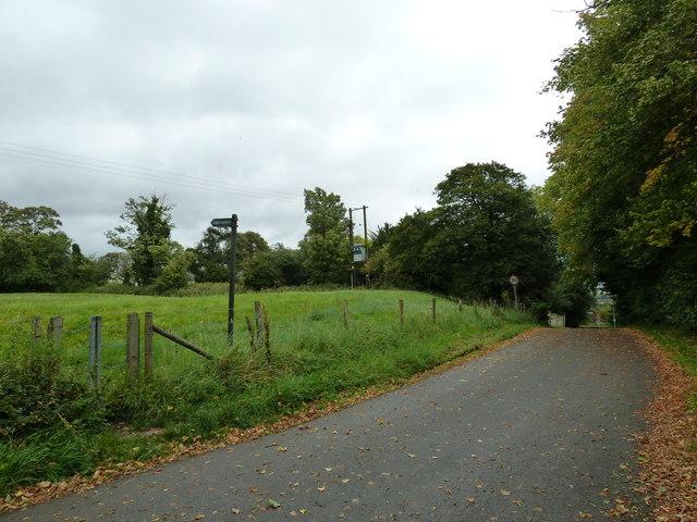The view eastwards along Church Lane