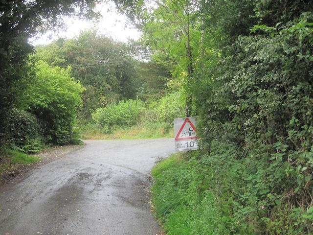 Road junction at Wern-y-Glyn