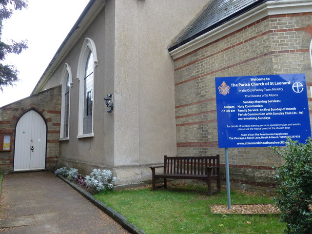 Entrance to St Leonard's, Heath & Reach
