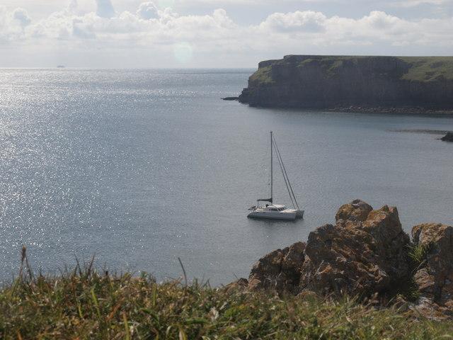 Catamaran at Barafundle Bay