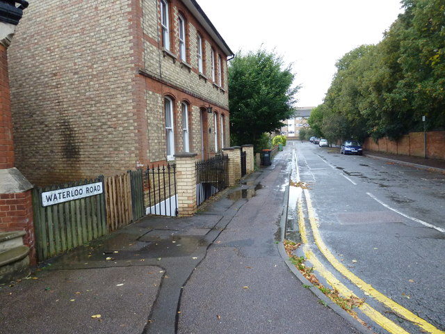 Looking from Vicarage Road into Waterloo Road