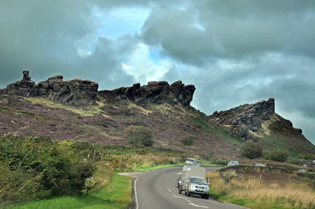 Approach to Ramshaw Rocks from the A53 - Blackshaw Moor