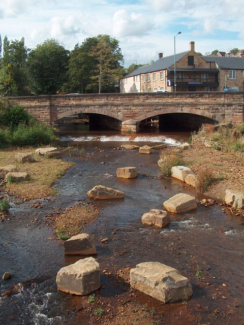 One of the two bridges at Malin Bridge, Sheffield