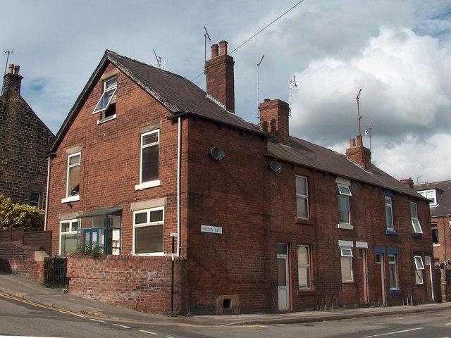 Victorian terraced housing in Hillsborough, Sheffield