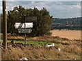 SK3090 : Signpost on Long Lane opposite Myers Lane junction by Neil Theasby