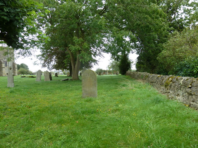 The churchyard wall at St John the Evangelist, Whitchurch