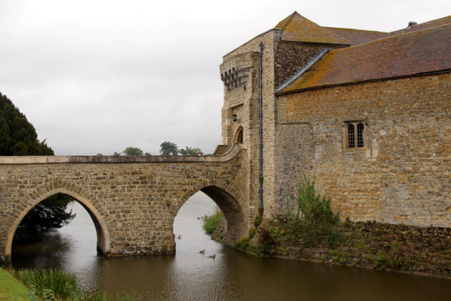 Bridge over Moat, Leeds Castle, Kent