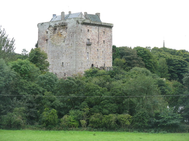 Borthwick Castle from Borthwick Mains