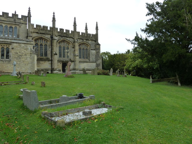 Churchyard at North Marston, Bucks- autumn