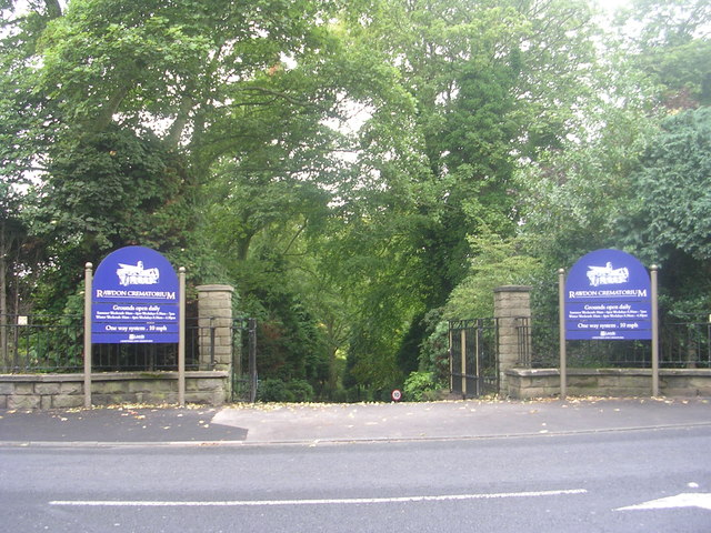 Entrance to Rawdon Crematorium - Rawdon Road