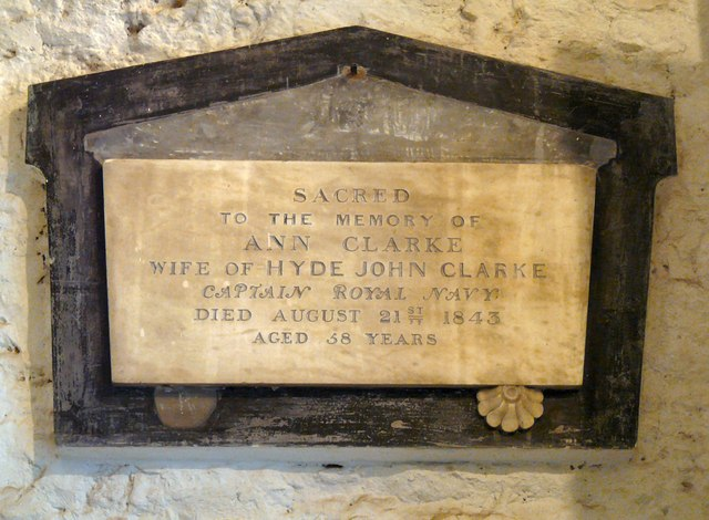 Memorial to Ann Clarke