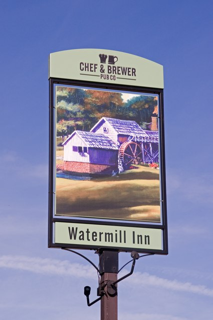 The Watermill sign