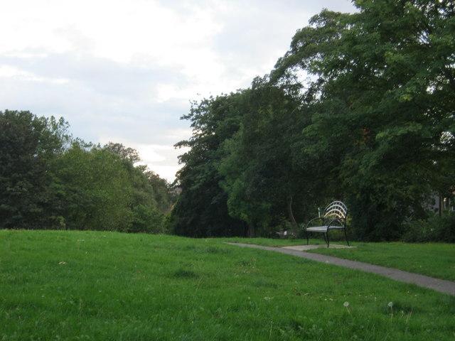 Seat in Sugar Hill Park in Darlington