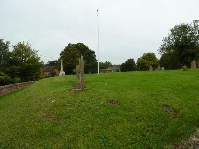 Flagpole in Soulbury churchyard