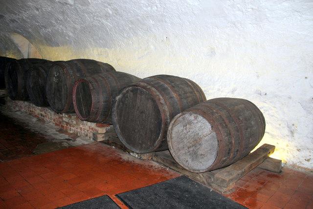 Barrels inside Leeds Castle, Kent