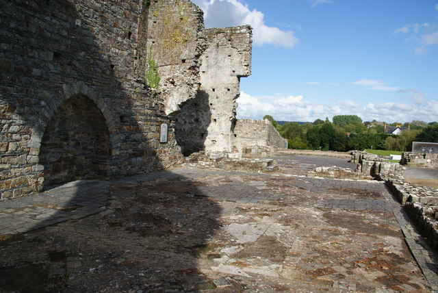 The former nave of St Dogmaels Abbey