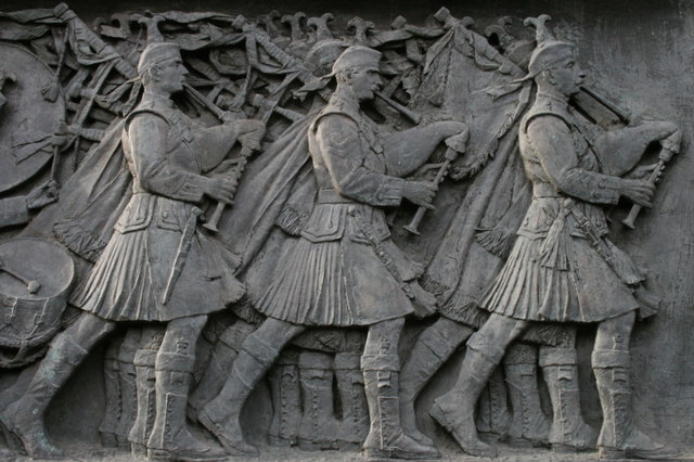 Commemorative panel in Princes Street Park