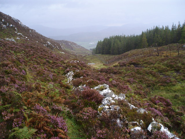 Knockie Lodge from the Loch Tarff - Knockie path