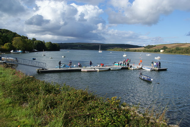 A quay in the Teifi estuary