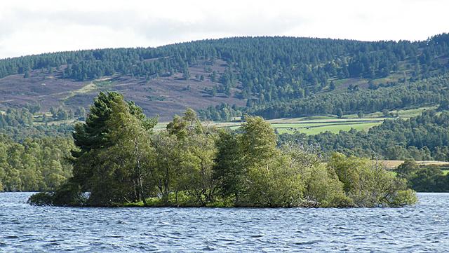 Crannog in Loch Kinord