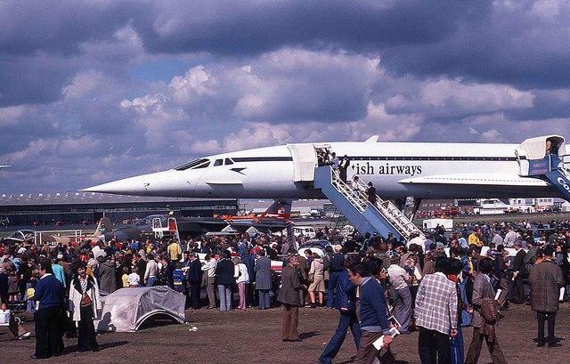 Concorde at the 1976 Farnborough Airshow