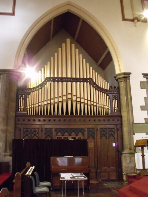 Organ in St Nicholas Church, Newport, Lincoln