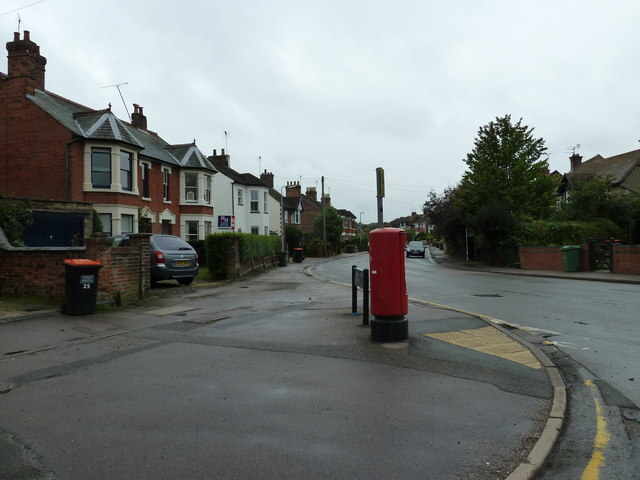 Postbox at the junction of Southcourt Avenue and Southcourt Road