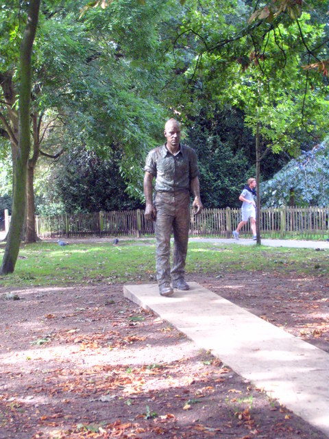'Walking Man' sculpture in Holland Park