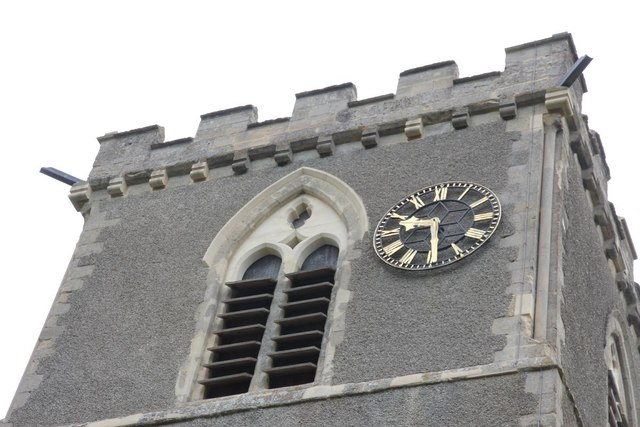 Clock on the top
