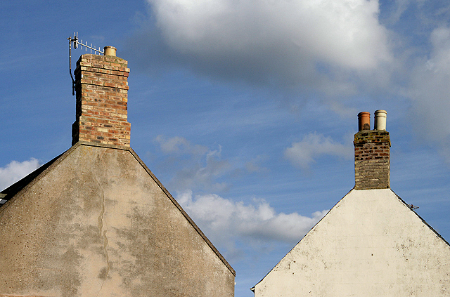 Gable ends and chimneys in Eyemouth