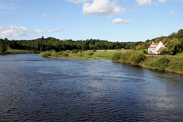 The River Tweed from the Union Chain Bridge
