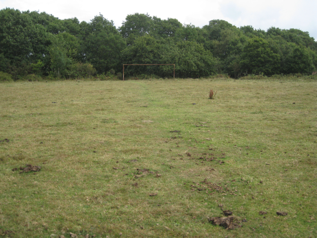 Rusty goalposts, Chudleigh Knighton Heath