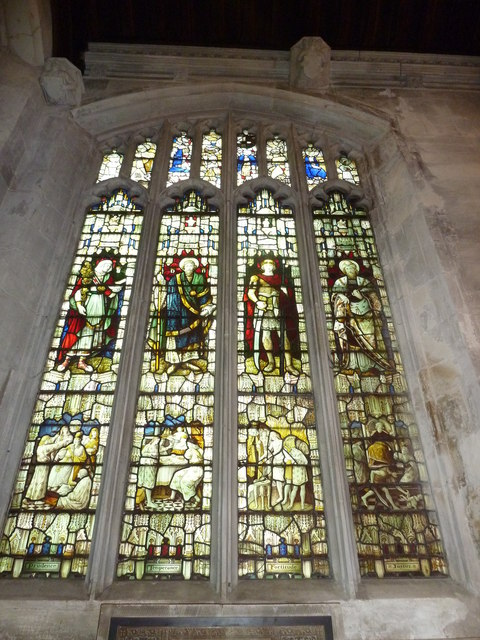Luton: St. Mary's Church- stained glass window